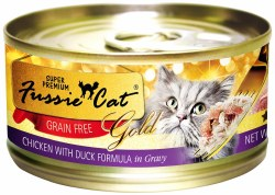 Fussie Cat Gold Chicken with Duck in Gravy Super Premium Grain Free Canned Cat Food 2.8oz