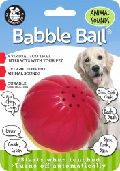 Babble Ball Anml Sound Lg Rd/Y