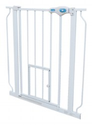 Carlson Expandable Steel Walk Thru Gate With Door 30 Inches Tall 29-52 Inches Wide