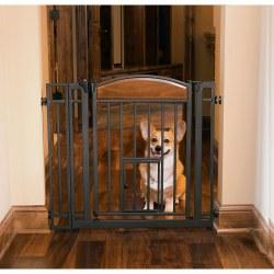 Carlson Design Studio Metal Walk-Thru Gat With Pet Door
