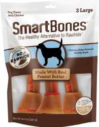 Smartbones Peanut Butter Large 3 Pack Rawhide free Dog Chews