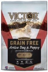 Victor Active Dog and Puppy Formula Grain Free Dry Dog Food 5lb