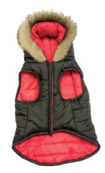 Reversible Puffy Coat Red SM