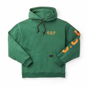 C.C.F. Graphic Pullover Hooded Sweatshirt