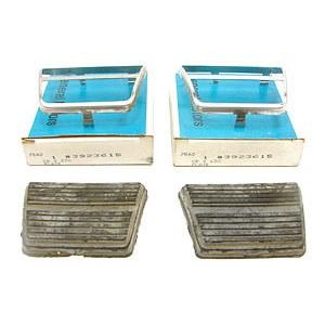 67 68 69 Camaro NOS Brake & Clutch Pedals Pads & Trim GM# 3923615 & 3921648