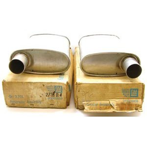 1969 Camaro NOS 302 396 427 Dual Exhaust Resonators GM Part# 3909959