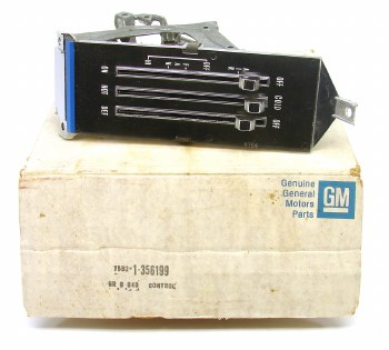 1969 Camaro & Nova NOS Heater Control Assembly Original GM# 356199