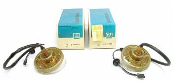 1969 Camaro NOS Front Parking Light Assemblies  Gold Iridite  GM# 916911