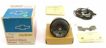 67 68 Camaro Chevelle Nova Full Size NOS Dash Mounted Clock Kit  GM# 987185