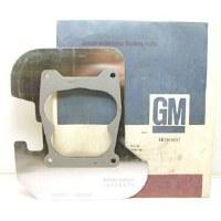 1969 Camaro Chevelle Nova  NOS Q-Jet Carburetor Heat Shield Original GM# 3969837