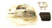 67 68 69 70 71 72 Camaro & Firebird NOS Park Brake Pedal Pad & Stainless Trim