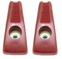 67 68 69 Camaro & Firebird Coat Hooks Nice Used Original GM Pair Red