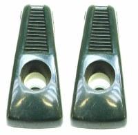67 68 69 Camaro & Firebird Coat Hooks Nice Used Original GM Pair Dark Green
