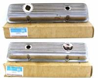 69 70 71 72 Camaro & Corvette  NOS Finned Aluminum Valve Covers  GM# 3965541 & 3965542