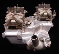 1968-1969 Camaro 302 Z/28 Crossram Intake Dated 4-10-68 & Carburetors Dated 844