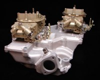 1969 Camaro Crossram Intake & Carburetors dated 8-20-69