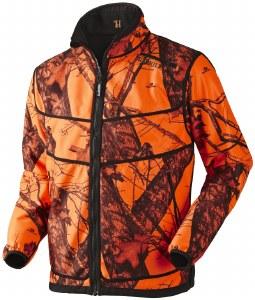 Harkila Grizzly Mossy Oak Blaze Reversible Windstopper Fleece Jacket