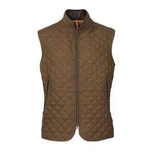 Laksen Firle Quilted Tweed Vest