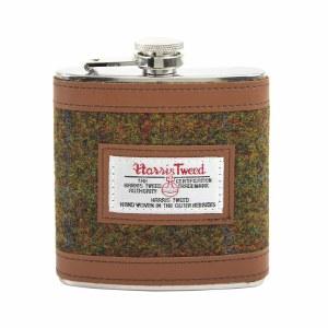 British Bag Company Harris Tweed Hip Flask