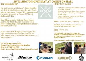 Swillington Open Day Tickets