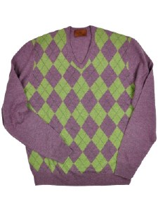 Laksen Argyle Mens Jumper