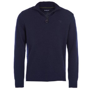 Barbour Essential Half Zip Lambswool Mens Jumper