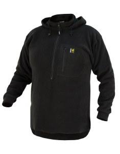 Swazi Hood Fleece Black