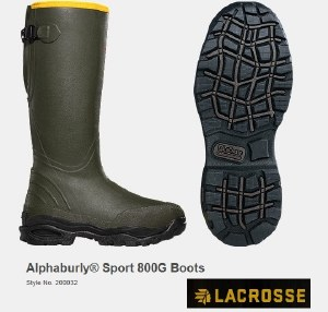 LaCrosse AlphaBurly Sport 800g Thinsulate Wellington Boots
