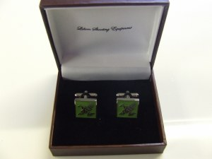Laksen Grouse Cufflinks Green