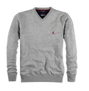 Musto V-Neck Sweater Titanium