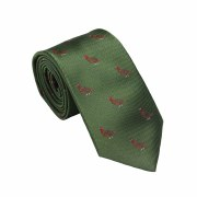 Laksen Grouse Tie Green