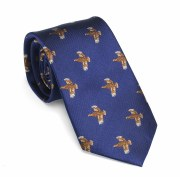 Laksen Grouse Tie Blue