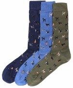 Barbour Dog Motif Socks