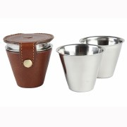 Laksen Drinking cups with leather cover