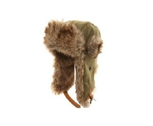 Tweed Fur Trim Trapper Cap