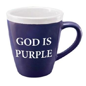 Mug, God is Purple