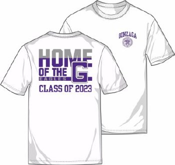 T Shirt Class of 2023 White M