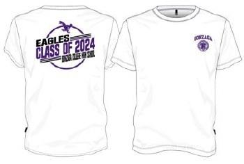 T Shirt Class of 2024 White M