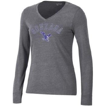 T Shirt Ladies L/S Tri Grey XL