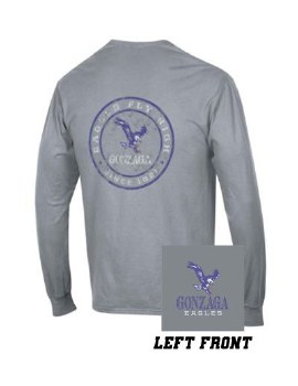 T Shirt Wash L-S Grey L