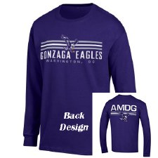 T Shirt Chp L/S AMDG Purple S