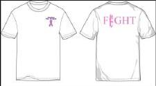 T Shirt Pink '18 White M