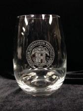 Glass, Etched Wine Stemless 15 oz