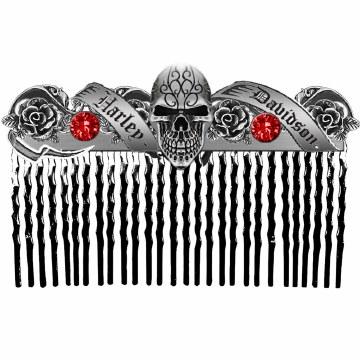 Skull & Rhinestone Comb