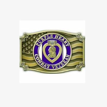 Buckle Purple Hear Vet