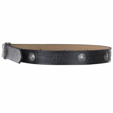 Buffalo Medallion Belt Black
