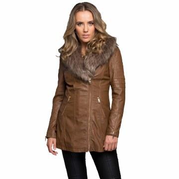 Furring In Love Coat Camel