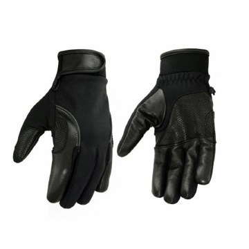 Leather/Textile Glove Black