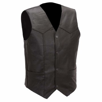 Men's 4 Snap Plain Vest