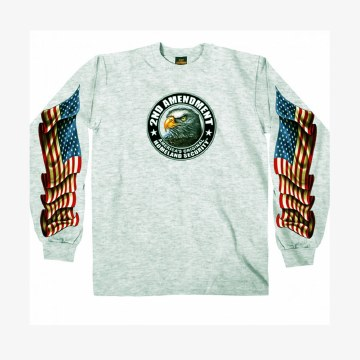 Men's LS T-Shirt Down Flags